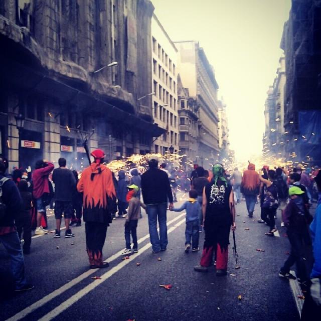 La Merce Correfoc Fire Runners Barcelona 2012