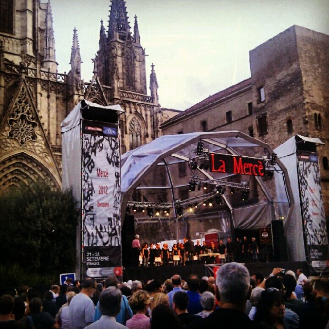 La Merce Festival Stage Barcelona 2012