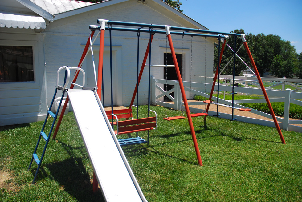 Lisa Marie Presley's Swing Set at the Graceland Mansion