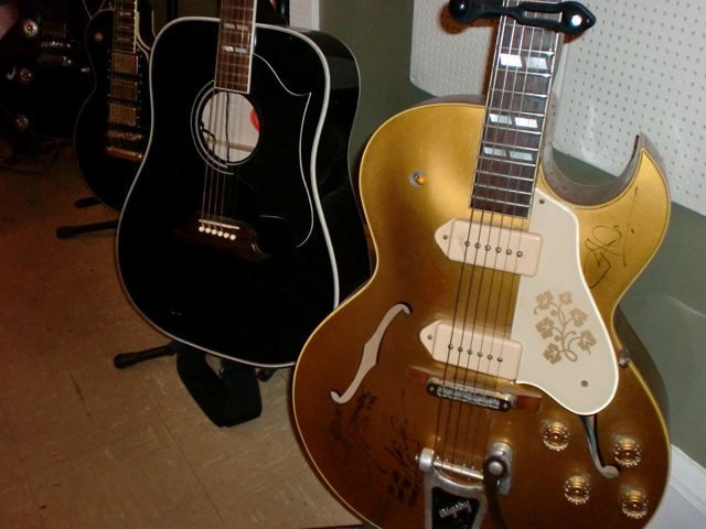 Sun Studio Signed Guitars