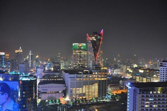 Bangkok at night from the Amari Watergate Hotel