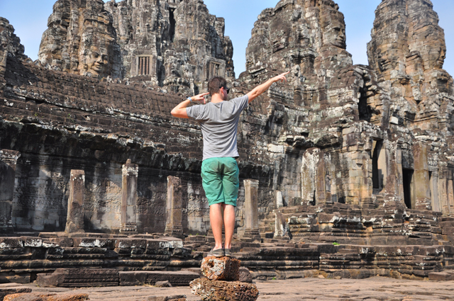 Turner from Around the World in 80 Jobs at Angkor Wat