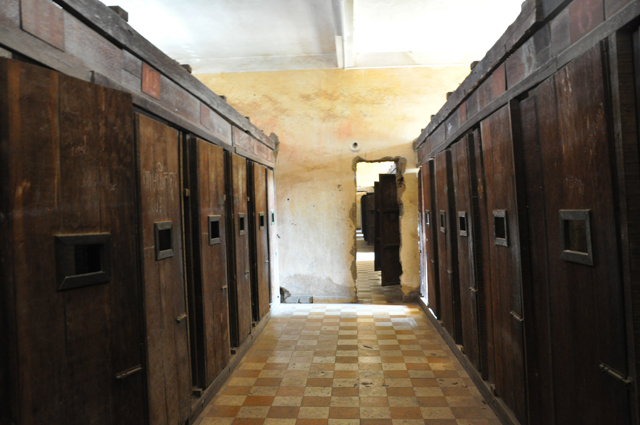 Cells at S-21 Prison in Phnom Penh