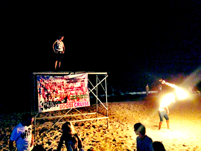 Fire Dancing at Nap Bar, Sihanoukville Cambodia