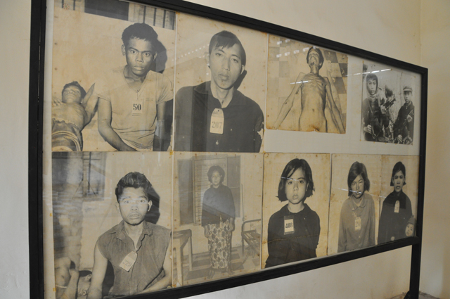 Photographs in S-21 Prison, Phnom Penh, Cambodia