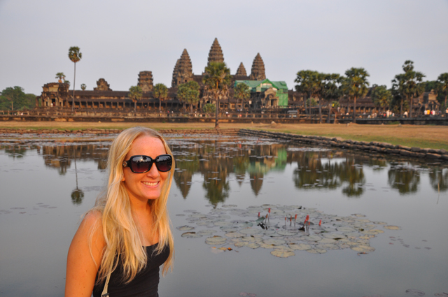 Pommie Travels at Angkor Wat Cambodia
