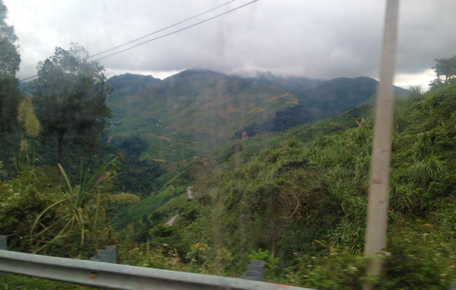Bus from Vietnam to Laos- View from the window