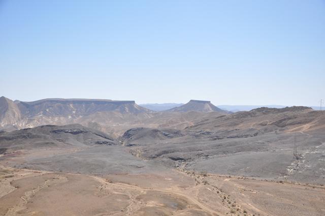 Inside Makhtesh Ramon Crater