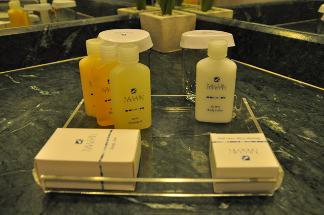 Isrotel Dead Sea Toiletries in the Bathroom