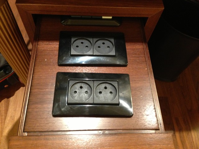 King David Hotel Plug Socket Drawer