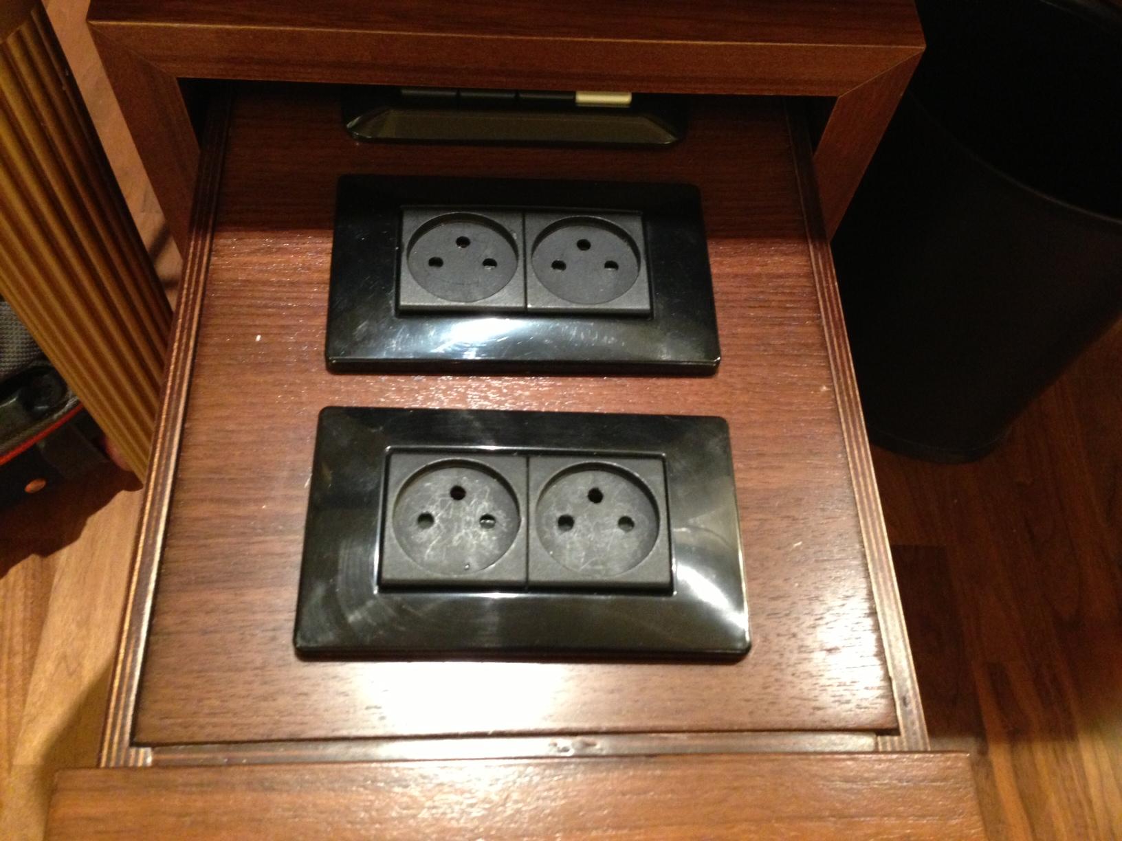 King David Hotel Plug Socket Drawer