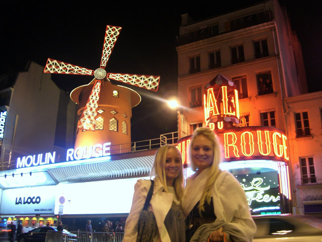 Moulin Rouge at Night in Paris