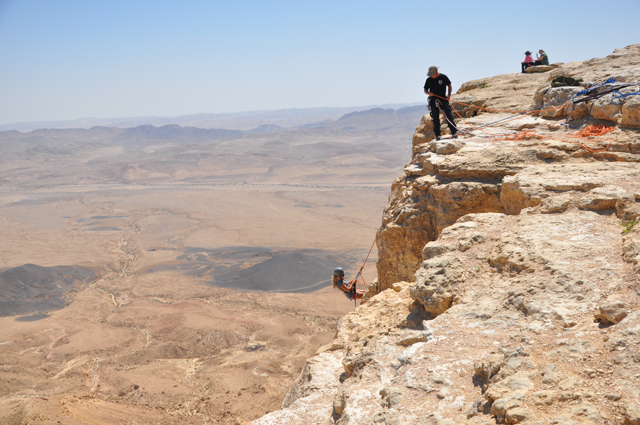 Mitzpe Ramon Israel  city images : Rappelling Mitzpe Ramon Crater in Israel | Pommie Travels