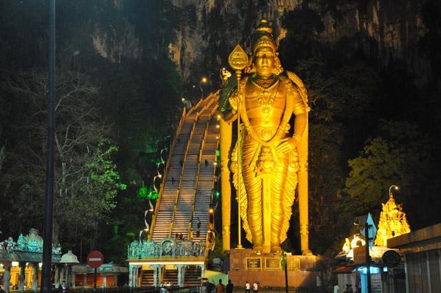 Batu Caves at Night Kuala Lumpur