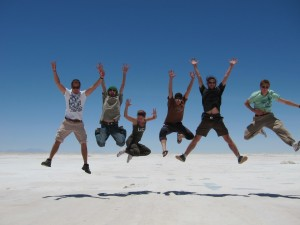 Jumping in Salar de Uyuni