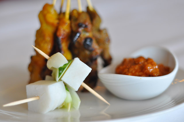 Malaysia Airlines Satay Sticks