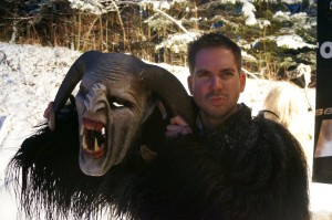 Playing the Turner from Around the World in 80 Jobs Playing the Krampus in Salzburg Austria