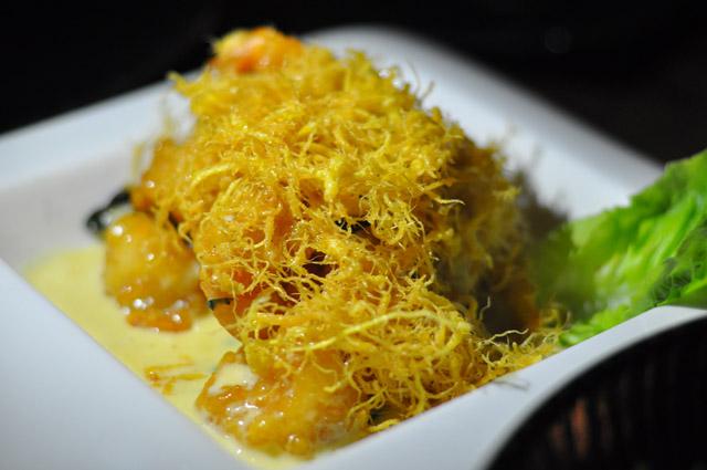 Prawns with Crispy Egg at Di Atas Sungei Tanjong Jara Resort