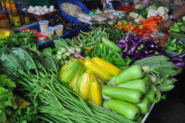 Vegetables at Dungun Market Malaysia
