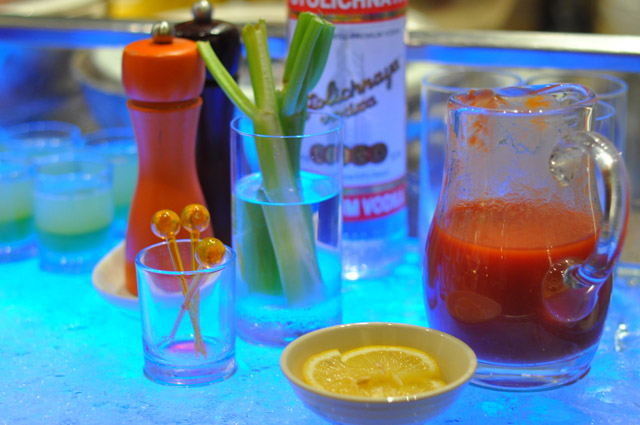 Bloody Mary Station at Circles Event Cafe