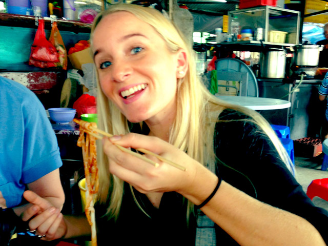 Eating Street Food in Malaysia
