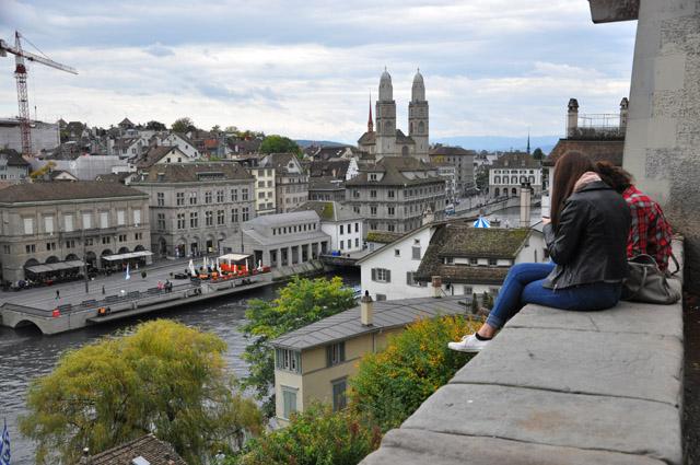 View from Lindenhof Zurich