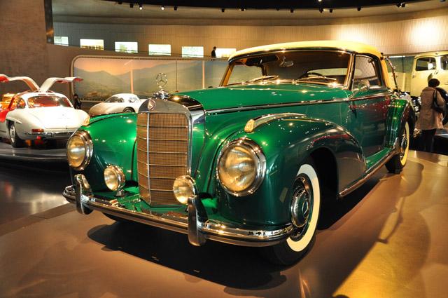 Mercedes Benz Museum Green Car