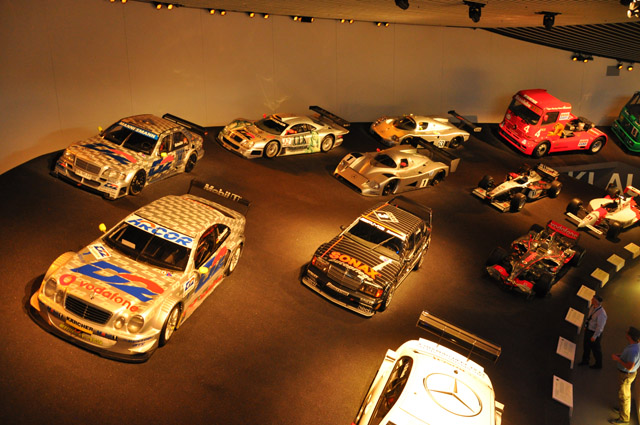 Mercedes Benz Museum Race Cars