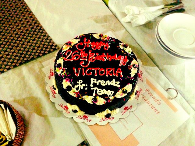 26th birthday cake Frendz Resort