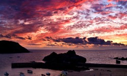 Sunset Hope Cove Devon