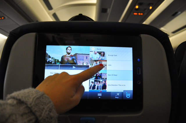 Thomas Cook Airlines Touch Screen Inflight Entertainment
