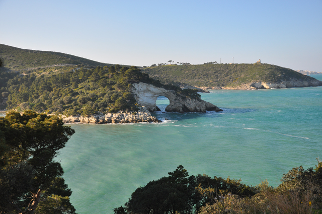 The rugged Gargano Coastline Italy