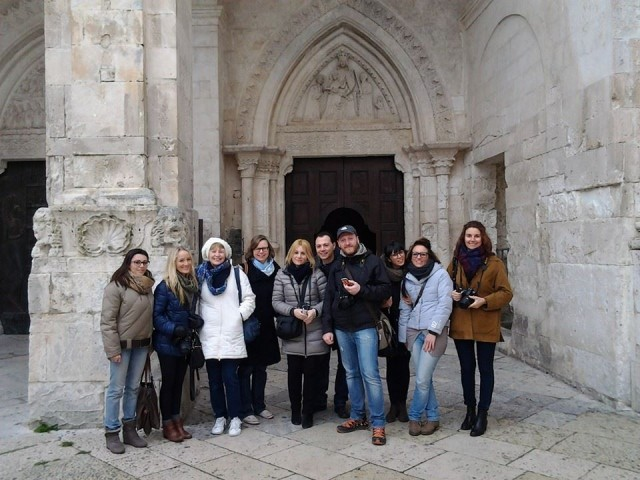 Group photo at Sanctuary of Monte Sant'Angelo Foggia