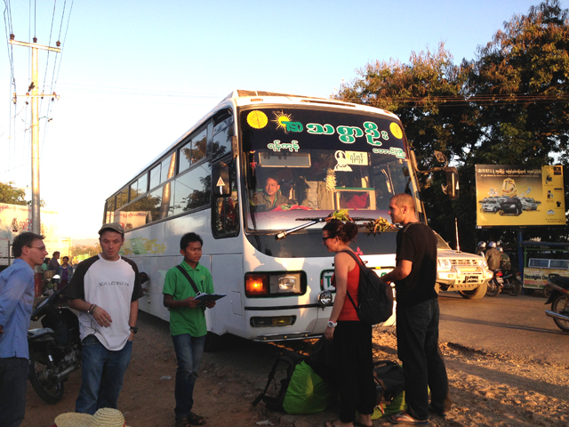 Bus from Inle Lake to Yangon