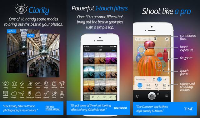 Camera + App Screenshots