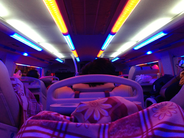 Night Bus in Vietnam