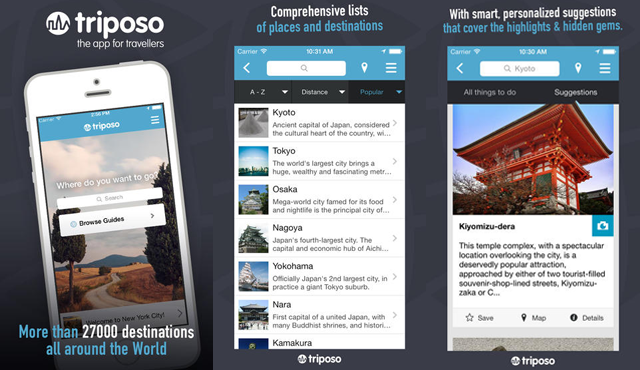 Triposo App Screenshots