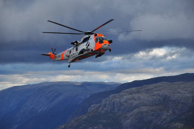 Mountain Rescue Helicopter Norway