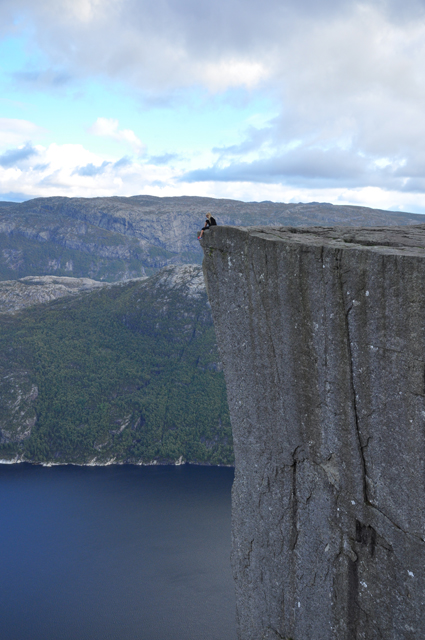 Sitting on Pulpit Rock