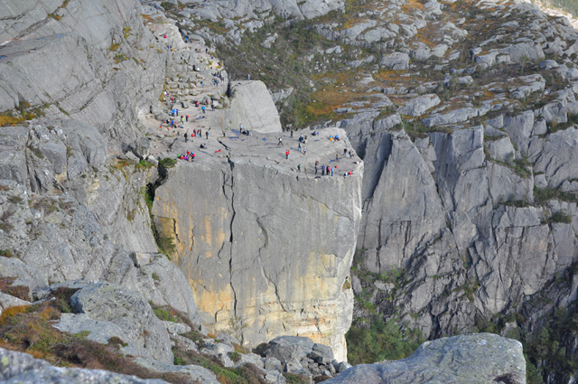 Tourists on Top of Pulpit Rock Norway