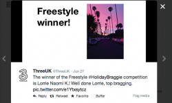 Holiday Braggie Freestyle Winner