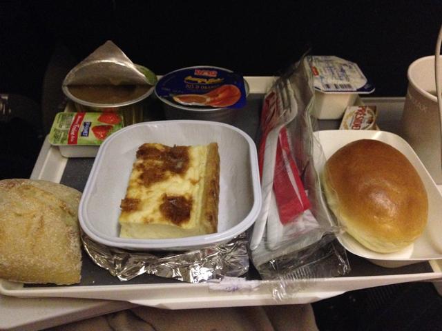 Air France Breakfast Economy Paris to Rio de Janeiro