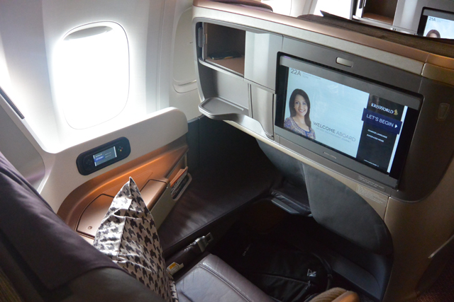 Singapore Airlines 777 Business Class Seat