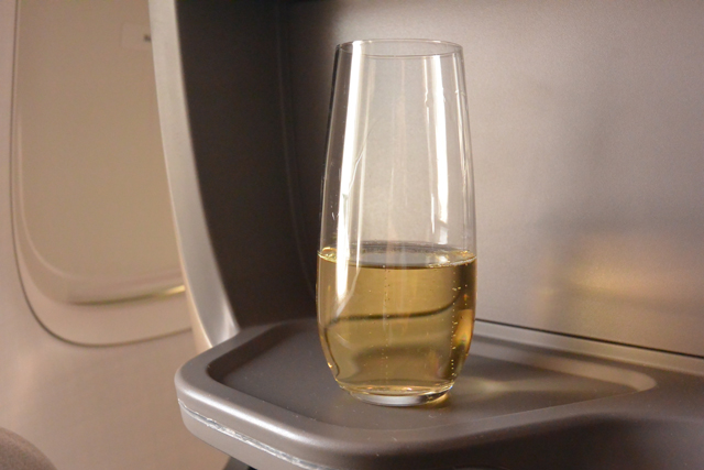 Singapore Airlines Business Class Champagne