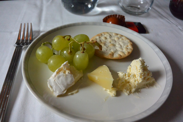 Singapore Airlines Cheese Course
