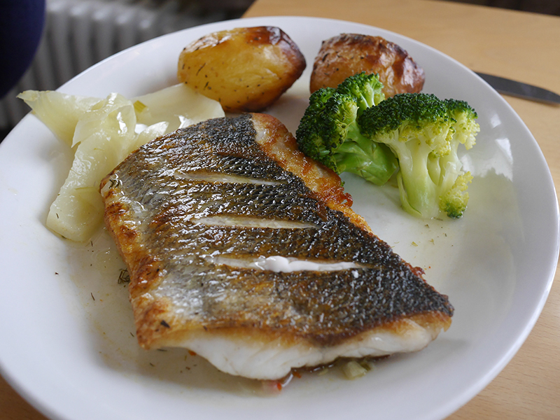 Sea Bass at Worm's Head Hotel Gower