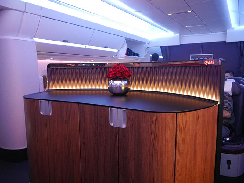 Qatar Airways A350 XWB Business Class Entrance Area
