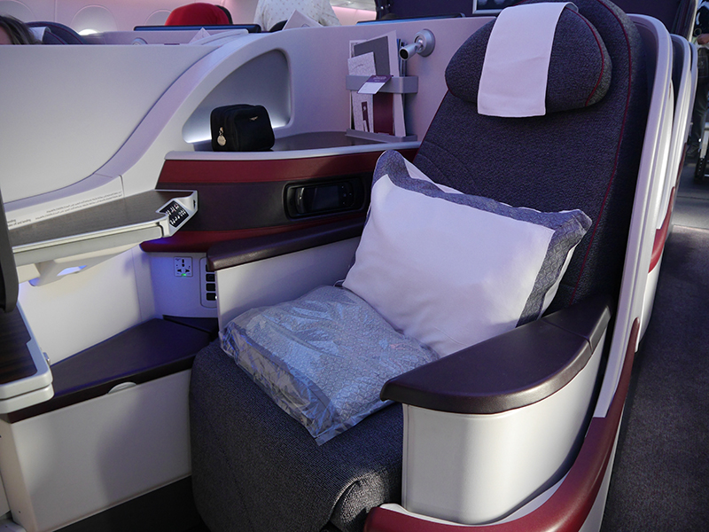 Qatar Airways A350 Business Class Seat
