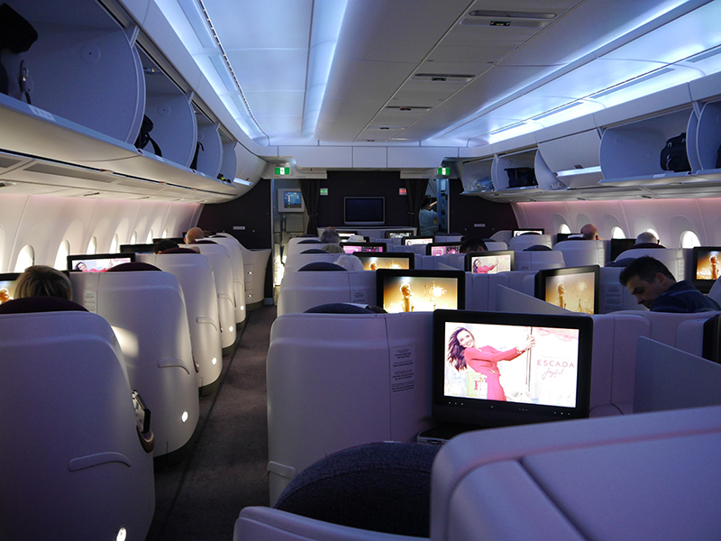 Qatar Airways A350 XWB Business Class Cabin