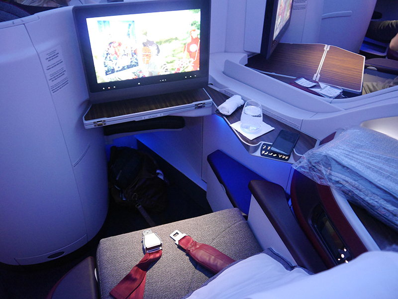 Qatar Airways Business Class Seat 4E A350 XWB
